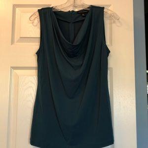 Teal sleeveless blouse. Banana Republic size S.